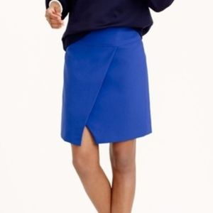 NAVY J.crew crossover wrap a-line skirt (D5)